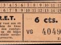 RET 1940 sectiekaartje 6 cts -a