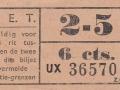 RET 1940 sectiekaartje 6 cts sectie 2-5 -a