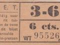 RET 1940 sectiekaartje 6 cts sectie 3-6 -a