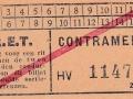 RET 1940 sectiekaartje contramerk -a