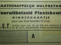 RET 1940 vooruitbetaald plaatsbewijs MH kinderen voorzijde  -a