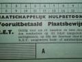 RET 1940 vooruitbetaald plaatsbewijs MH voorzijde -a