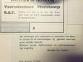 RET 1940 vooruitbetaald plaatsbewijs PTT  -a