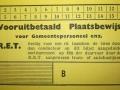 RET 1940 vooruitbetaald plaatsbewijs gemeentepersoneel voorzijde -a