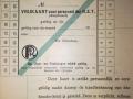 RET 1940 vrijkaart RET-personeel 2 ritten per dag -a