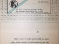 RET 1940 vrijkaart RET-personeel 4 ritten per dag -a