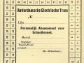 RET 1942 schoolkaart maand 1 lijn -a