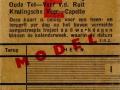 RET 1942 weekkaart Rotterdam-Capelle werkdagen 1,25 (108) -a