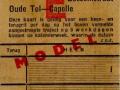 RET 1942 weekkaart Rotterdam-Capelle werkdagen 1,50 (109) -a