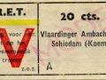 RET 1943 enkele reis Vlaardingen-Schiedam 20 cts (630) -a