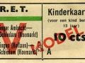 RET 1943 kinderkaartje Vlaardingen-Schiedam 10 cts (632) -a