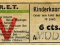 RET 1943 kinderkaartje Vlaardingen-Schiedam 6 cts (631) -a