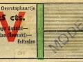 RET 1943 overstapkaartje Vlaardingen-Schiedam 25 cts (634) -a