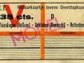 RET 1943 retour overstapkaartje 35 cts (638) -a