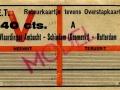 RET 1943 retour-overstapkaartje Vlaardingen-Rotterdam 40 cts (639) -a