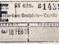 RET 1943 retourkaartje RTD-Capelle 55 cts. -a