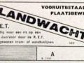 RET 1943 vooruitbetaald plaatsbewijs landwacht (522) -a