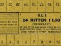 RET 1945 24-ritten weekkaart 1,50 -a