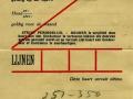RET 1945 persoonlijk abonnement weekdagen 10,- (W3) -a