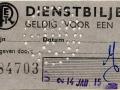 RET 1946 dienstbiljet voor een rit -a