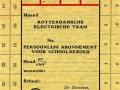 RET 1946 persoonlijk schoolabonnement maand 1 lijn -a