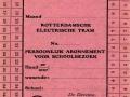 RET 1946 persoonlijk schoolabonnement maandkaart 1 lijn -a