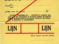 RET 1949 persoonlijk abonnement 1 lijn 7,- (W1) -a