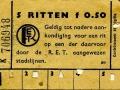 RET 1950 5-rittenkaart stadslijnen 0,50 (20) -a
