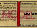 RET 1950 Reductiebiljet 20 cts (504) -a