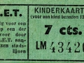 RET 1950 kinderkaartje 7 cts (526) -a
