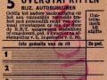 RET 1951 5-ritten overstapkaart bijz. autobuslijnen 0,85 -a