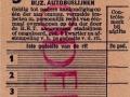 RET 1951 5-ritten overstapkaart bijz. autobuslijnen 1,- -a