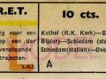 RET 1951 enkele reis trajectkaartje 10 cts (620) -a