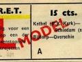 RET 1951 enkele reis trajectkaartje 15 cts (621) -a