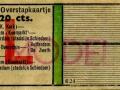 RET 1951 overstapkaartje buitenlijn-stadslijn 20 cts (624) -a
