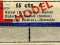RET 1951 retourkaartje Schiedam-Overschie 15 cts (625) -a