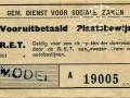 RET 1951 vooruitbetaald plaatsbewijs Sociale Zaken (511) -a