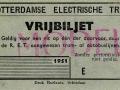 RET 1951 vrijbiljet -a