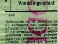 RET 1953 kinderkaartje buitentraject 25 cts (750) -a