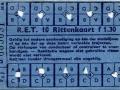 RET 1954 10-rittenkaart 1,30 (55A) -a