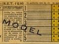 RET 1954 5-ritten overstapkaart 0,90 (61) -a