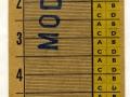 RET 1954 Weekkaart werkdagen 2 overstapritten 1,85 -a