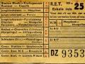 RET 1954 enkele reis buitenlijn 25 cts (103c) -a
