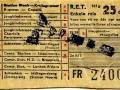 RET 1954 enkele reis buitenlijn 25 cts (103g) -a