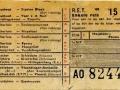 RET 1954 enkele reis stads of buitenlijnen 15 cts (102) -a