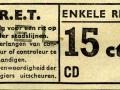RET 1954 enkele reis stadslijn 15 cts (101) -a