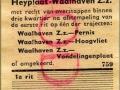 RET 1954 gratis overstapbewijs weekkaart Heyplaat-Waalhaven (759) -a