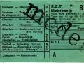 RET 1954 kinderkaartje buitenlijn 8 cts (112) -a