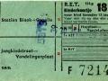 RET 1954 kinderkaartje buitenlijnen 18 cts (114g) -a