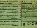 RET 1954 kinderkaartje stads of buitenlijnen 10 cts (113) -a